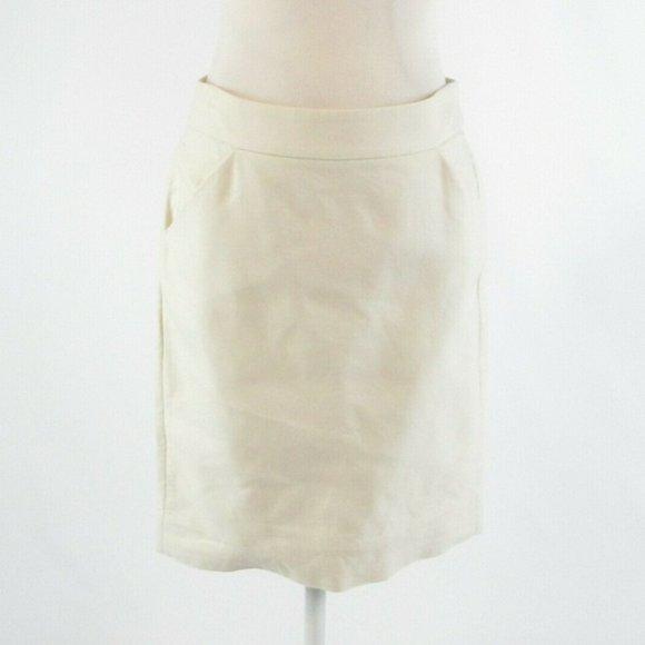 J.Crew ivory cotton pencil skirt 4